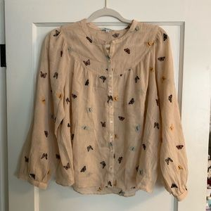 Madewell butterfly blouse